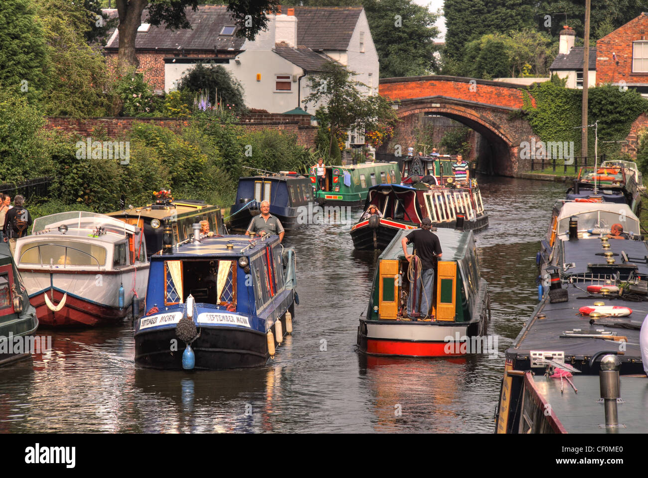 English,Canal,Boats,Rush,hour,on,The,Bridgewater,Canal,Lymm,Village,Cheshire,England,UK,water,colourful,lots,of,barge,barges,colorful,sailers,sailors,bridge,Corbett,White,House,messing,about,on,the,canal,summer,canal,river,trust,festival,British Waterways,canal river trust,Lymm Festival,canalrivertrust,canalrivertrust.org.uk,gotonysmith
