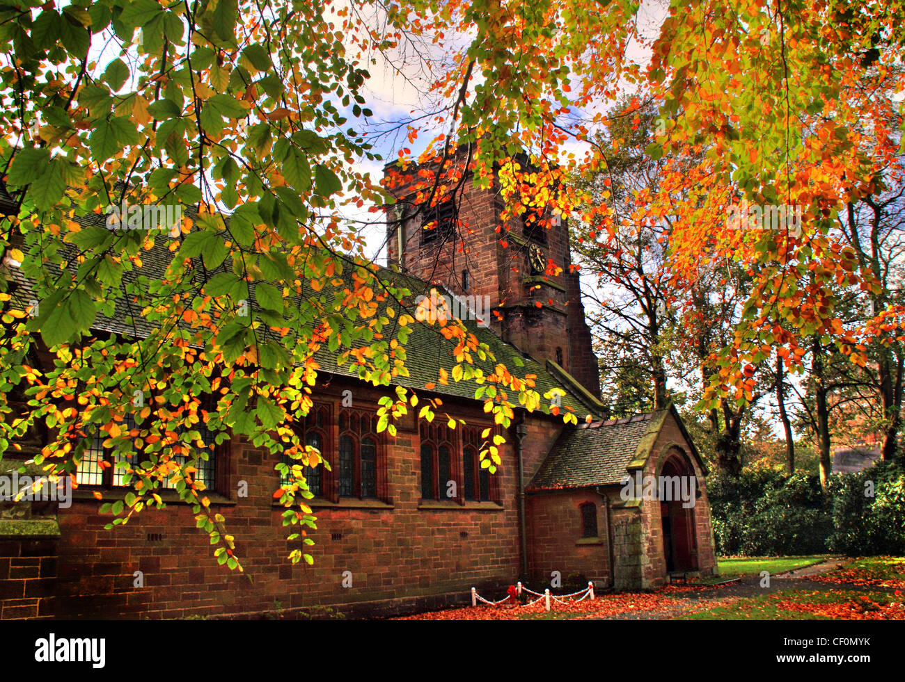 St,John,the,Evangelists,Church,Sandiway,in,Autumn,gotonysmith,The,fall,thefall,brown,leaves,stone,building,Anglican,Cuddington,designated,by,English,Heritage,as,a,Grade,II,listed,building,John,Douglas,1902,red,sandstone,with,a,Lakeland,slate,roof,tower,is,a,door,to,a,projecting,stair,turret,St John the Evangelists Church Sandiway.jpg Norley rd Road,gotonysmith,Buy Pictures of,Buy Images Of