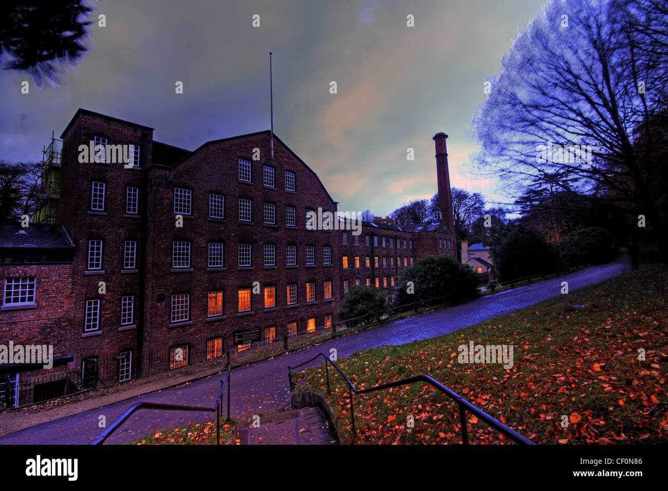 Styal,Cotton,Mill,NT,(,National,Trust,),near,Manchester,Airport,Lancashire,Cheshire,at,dusk,gotonysmith,Gregs,Quarry,Bank,Mill,preserved,textile,mills,of,the,Industrial,Revolution,cotton,industry,Samuel,Greg,River,Bollin,Sir,William,Fairbairn,Apprentice,House,Norcliffe,Chapel,in,Styal,village,Magical,iconic,the,best,image,of,industrial,museum,revolution,textile,textiles,gotonysmith,Mancester,Buy Pictures of,Buy Images Of