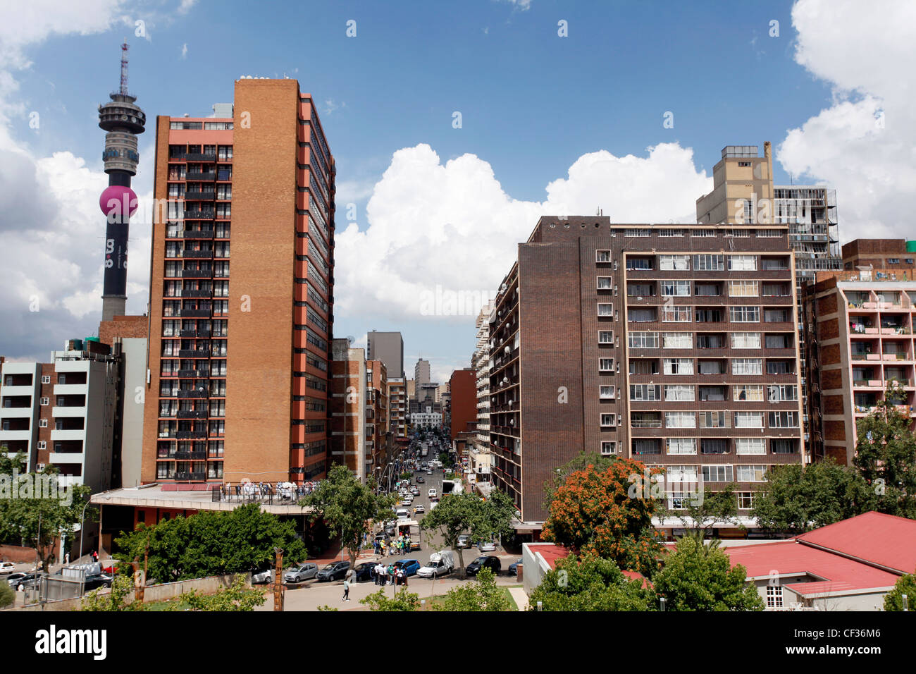 Hillbrow is the inner city residential neighbourhood of Johannesburg, Gauteng Province, South Africa. - Stock Image