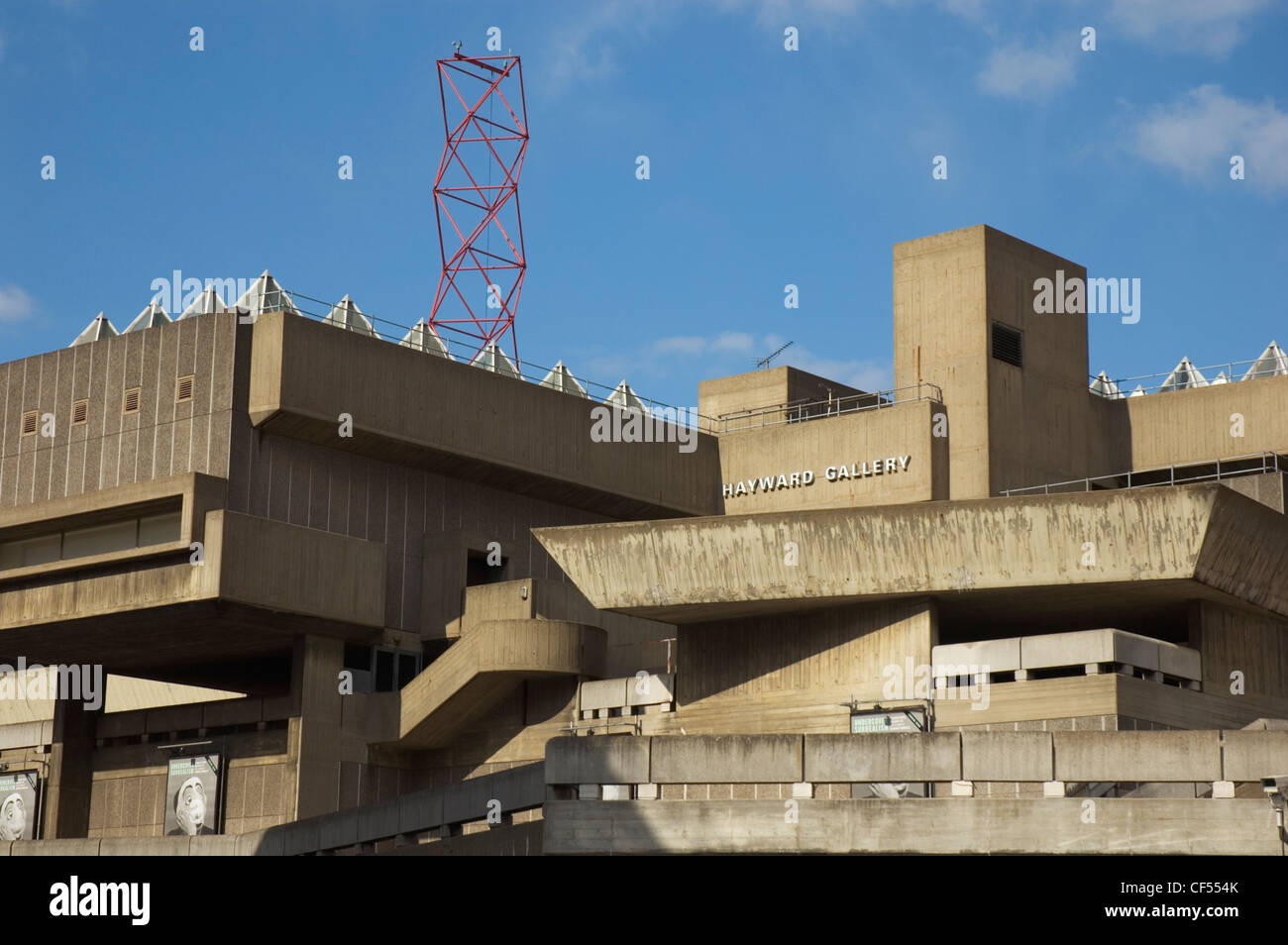 The Hayward Gallery and part of the South Bank complex of concrete buildings. Stock Photo
