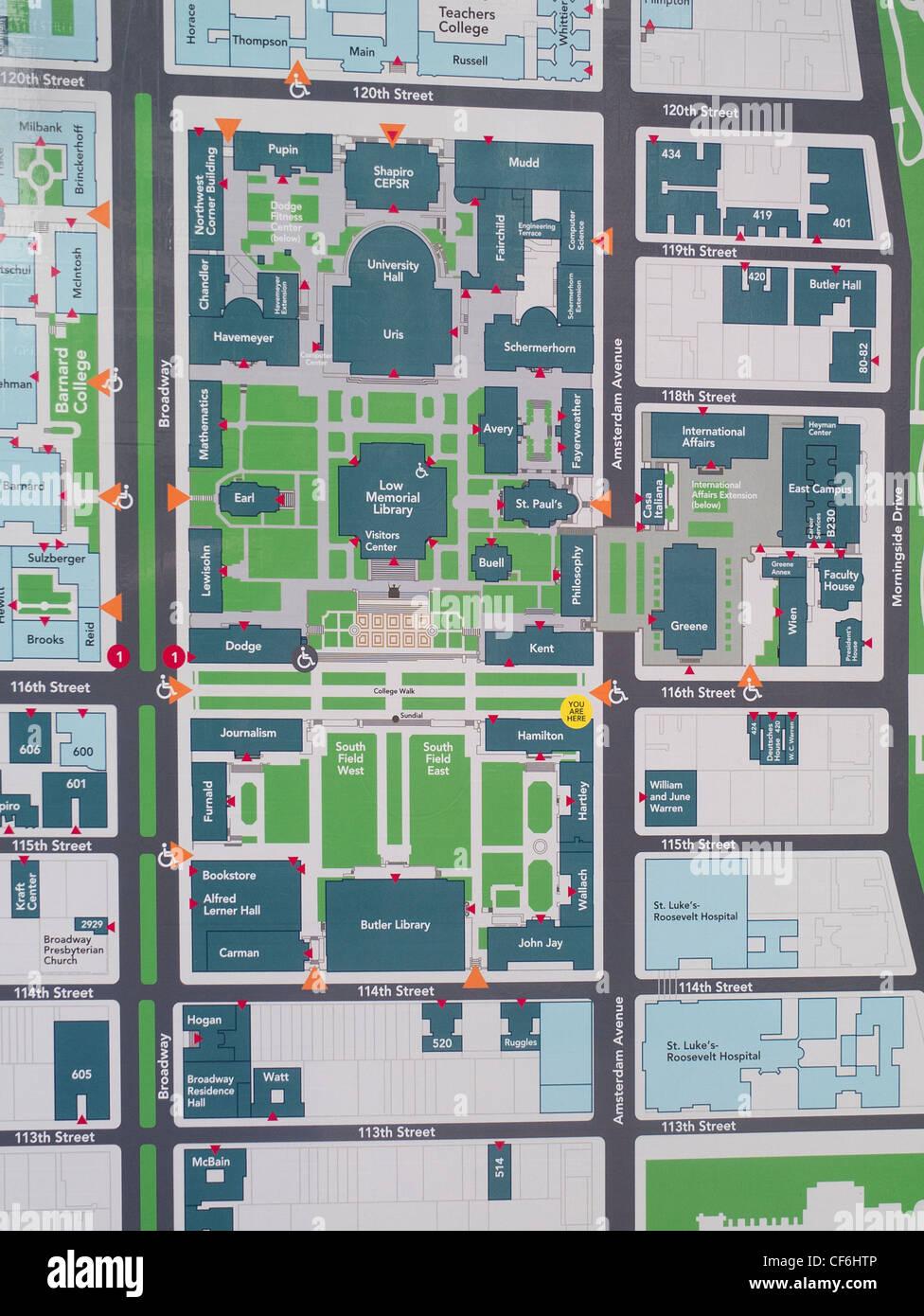 columbia university campus map