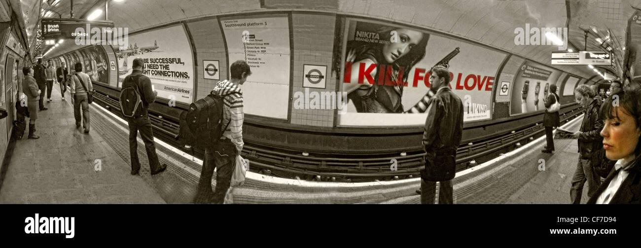 Euston tube Station,Euston,Square,Camden,London,UK,gotonysmith,wide,landscape,image,TFL,LU,transport,for,Underground,I,kill,for,love,poster,platform,passengers,passenger,waiting,woman,face,faces,transport,system,train,trains,interchange,pano,panorama,joiner,joined,images,unique,stitched,stitcher,gotonysmith,Buy Pictures of,Buy Images Of