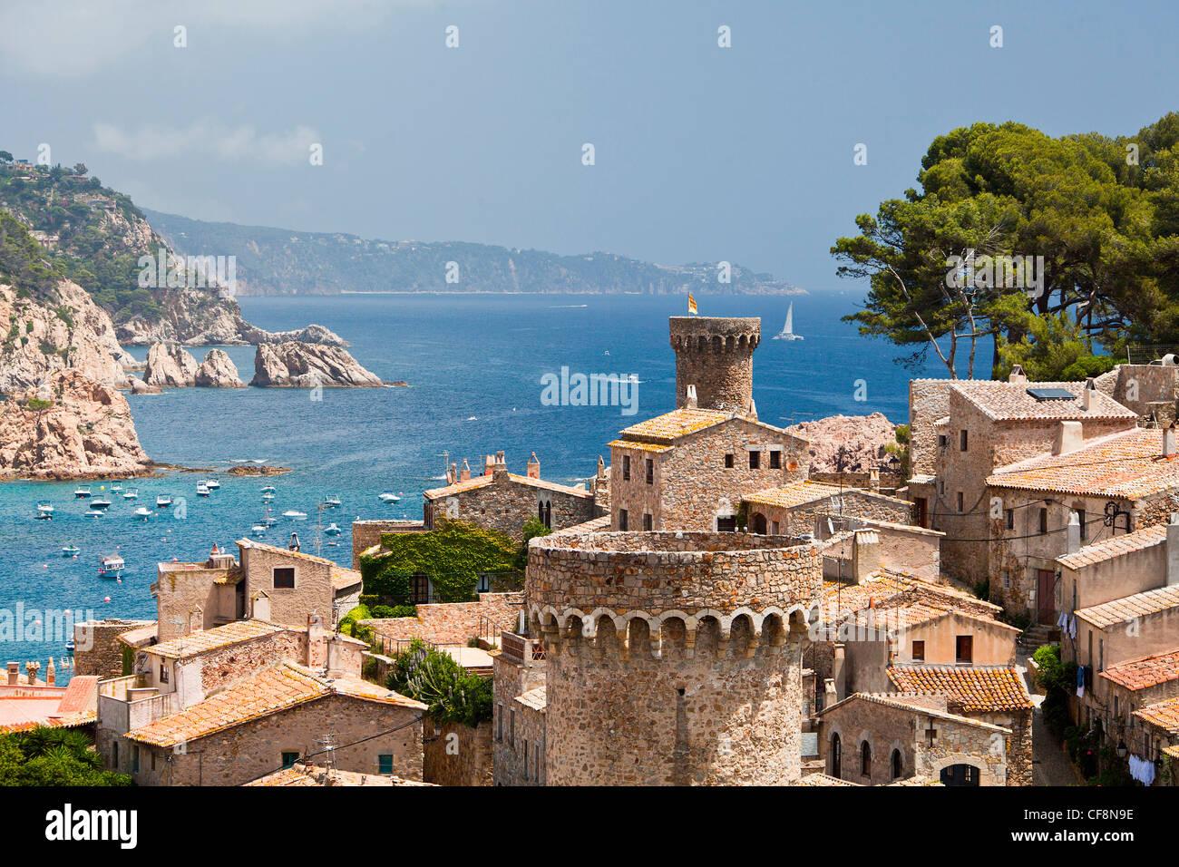 Spain europe girona province costa brava coast tossa de mar stock photo 43832922 alamy - Casco antiguo de girona ...