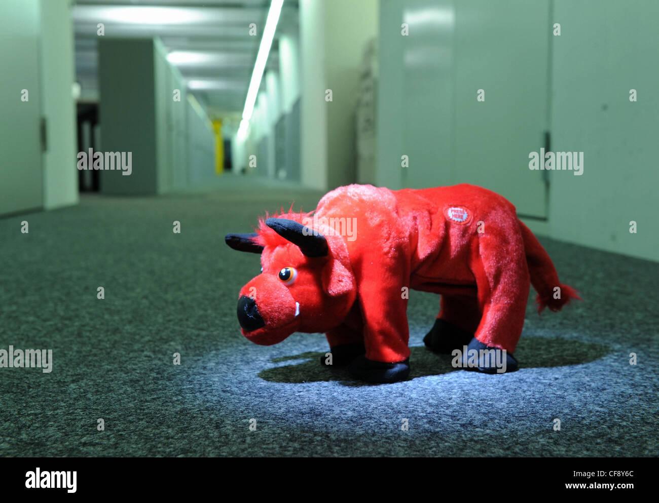 Bull Finance Market Soft Toy Symbol Stock Exchange Bloomberg