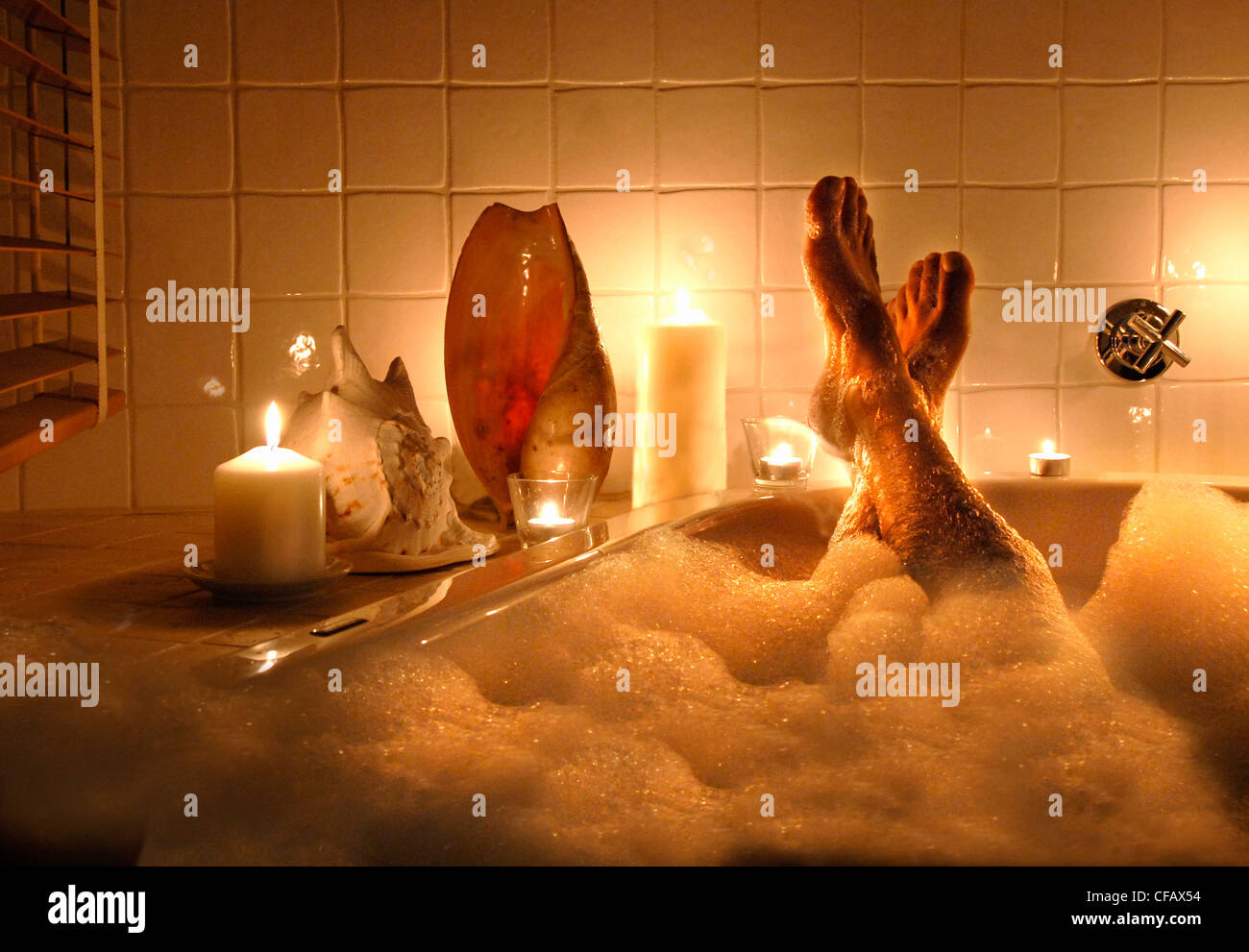 Wellness, bath, bathtub, relaxation, pleasure, spoil, woman, feet ...