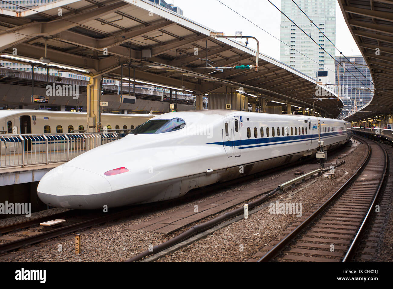 Japan, Asia, Tokyo, city, Bullet train, Station, Marunouchi, skyline, central, famous, fast, financial, first, skyline, - Stock Image