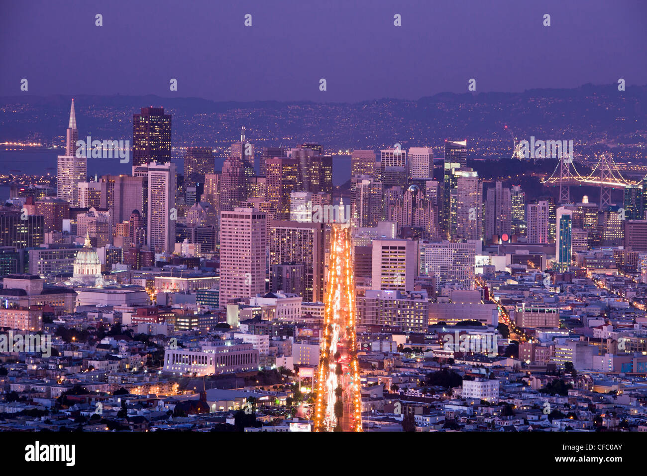 USA, United States, America, California, San Francisco, City, Downtown, Market Street, architecture, bay, downtown, - Stock Image