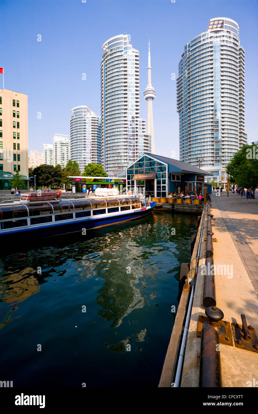 View of Harbourfront Condominiums from York Quay, Toronto, Ontario, Canada - Stock Image