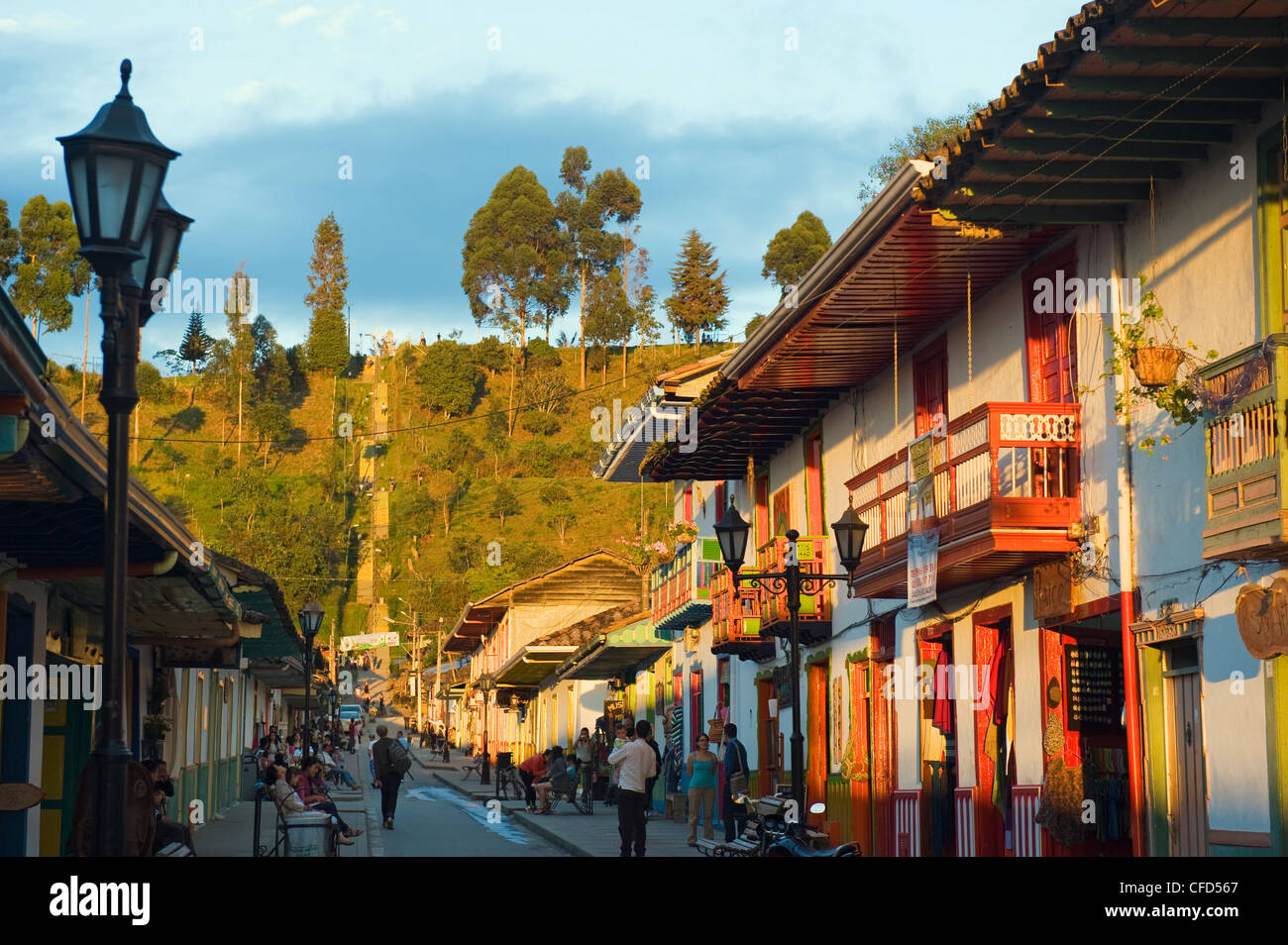 Colourful houses, Salento, Colombia, South America - Stock Image