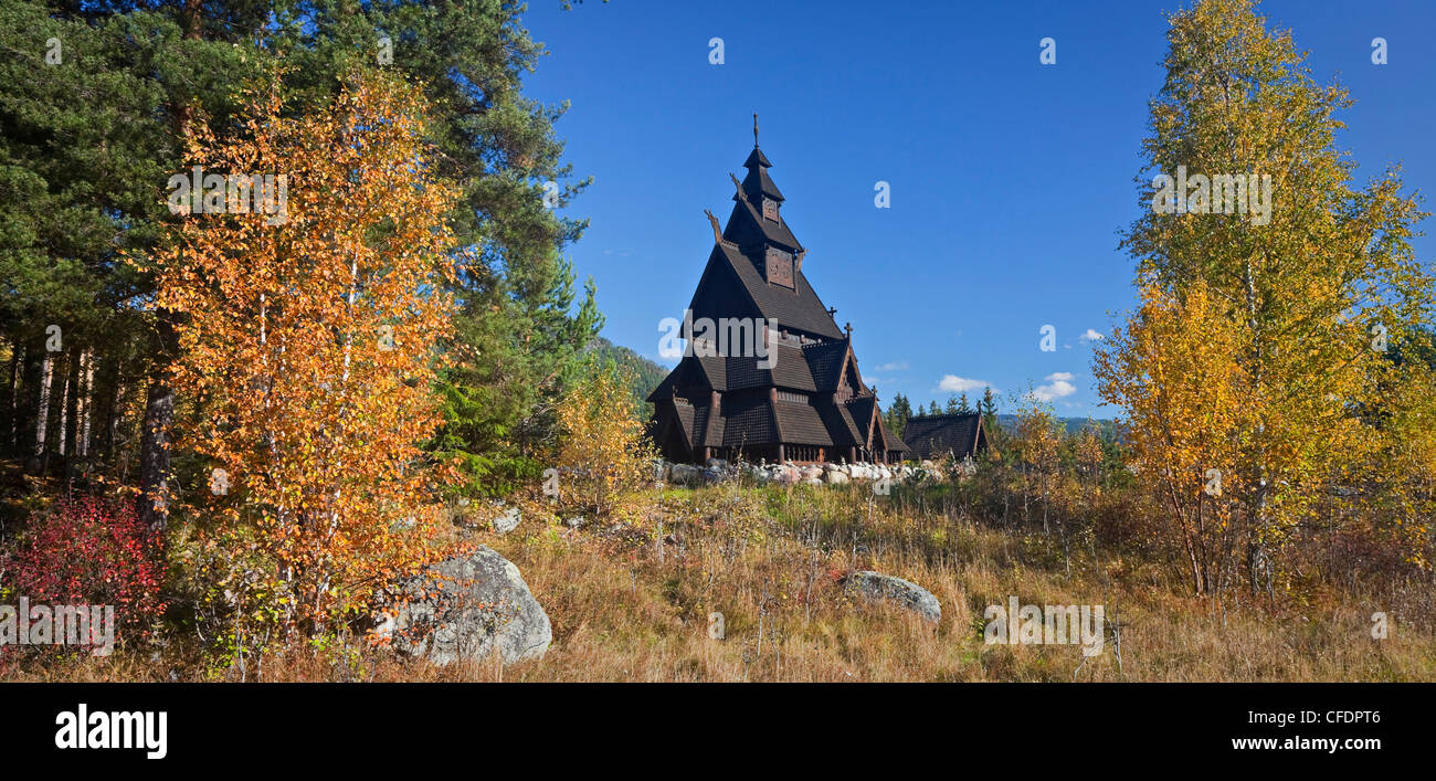 Replica of the Gol stave church, Norwegian Museum of Cultural History, Bygdoy, Norway - Stock Image