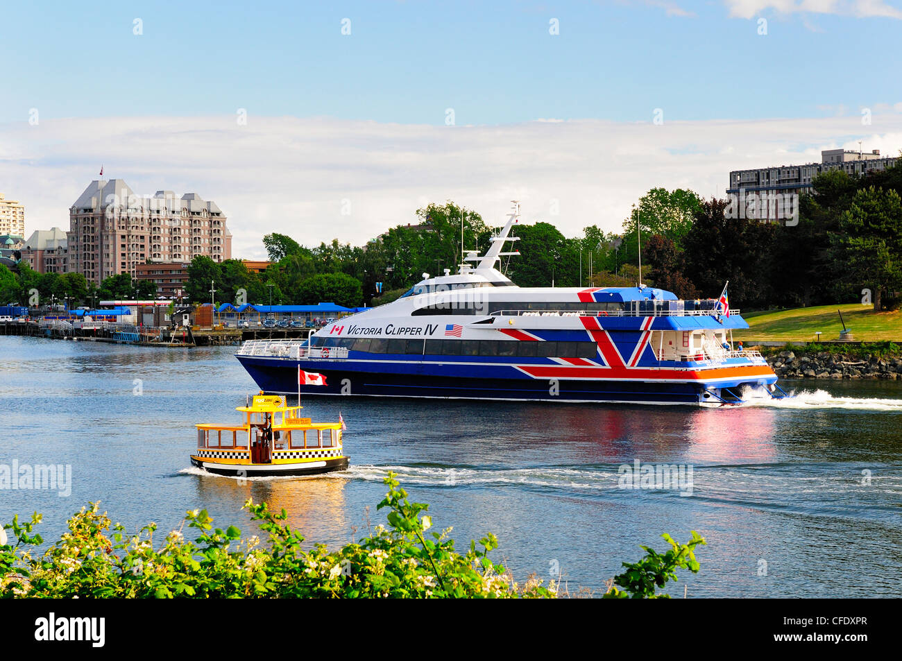 Water Taxi Victoria Harbour Canada Stock Photos Amp Water