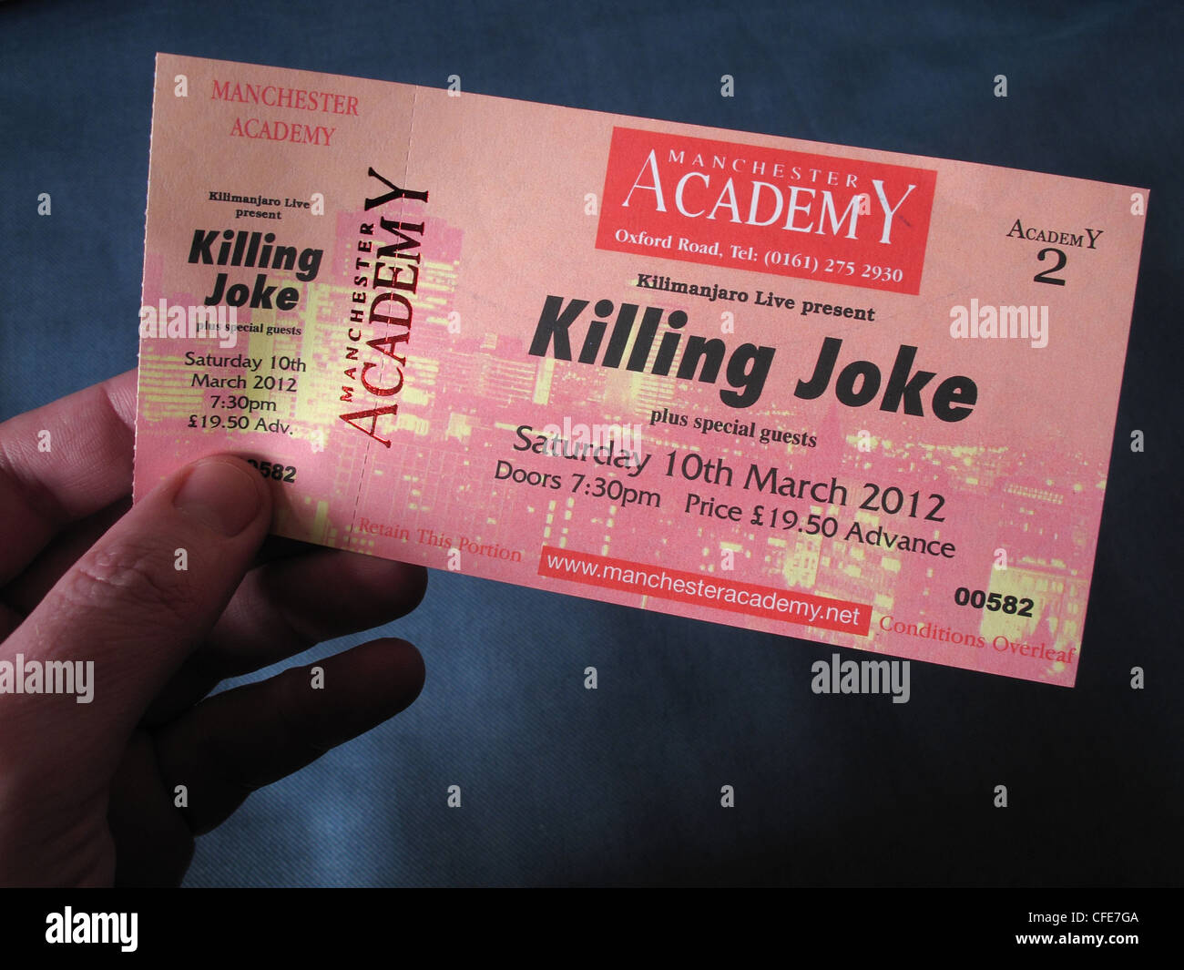 Killing,Joke,concert,ticket,for,Manchester,Academy,10th,March,2012,held,in,an,hand,gotonysmith,historic,gig,live,reunion,re-union,re,union,standing,seated,venue,gig,cartel,O2,stalls,Greater,Uni,Academy,Roadhouse,Night,and,Day,&,Ruby,lounge,high,price,prices,commission,Ticketline,Classic,1980's,1980s,band,gotonysmith,Buy Pictures of,Buy Images Of