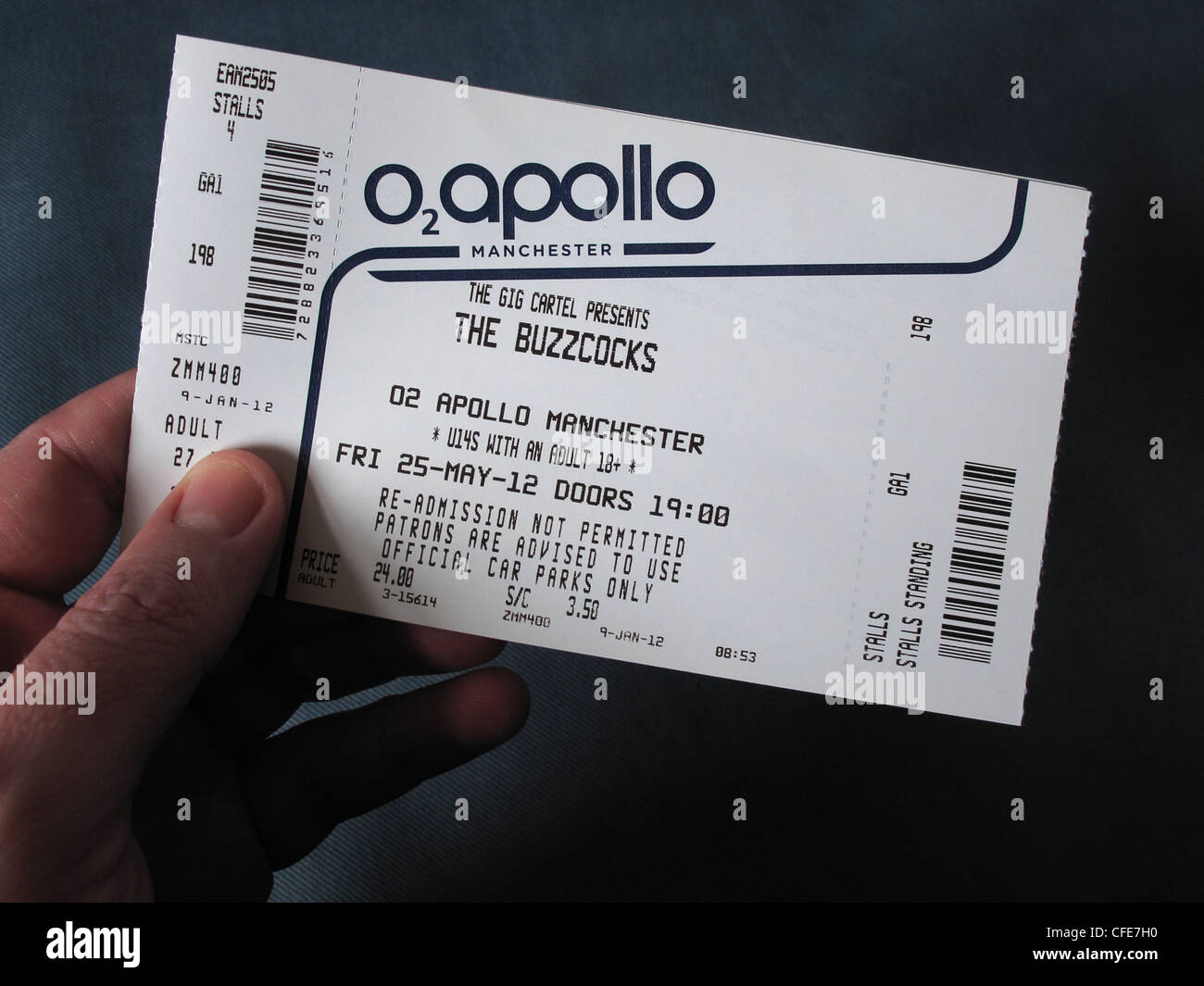 Buzzcocks,concert,ticket,for,Manchester,Apollo,25th,May,2012,with,Howard,Devoto,held,in,an,hand,gotonysmith,historic,gig,live,reunion,re-union,re,union,standing,seated,venue,gig,cartel,O2,stalls,Greater,Uni,Academy,Roadhouse,Night,and,Day,&,Ruby,lounge,high,price,prices,commission,Ticketline,Online Ticketmaster ticketting,gotonysmith,Buy Pictures of,Buy Images Of