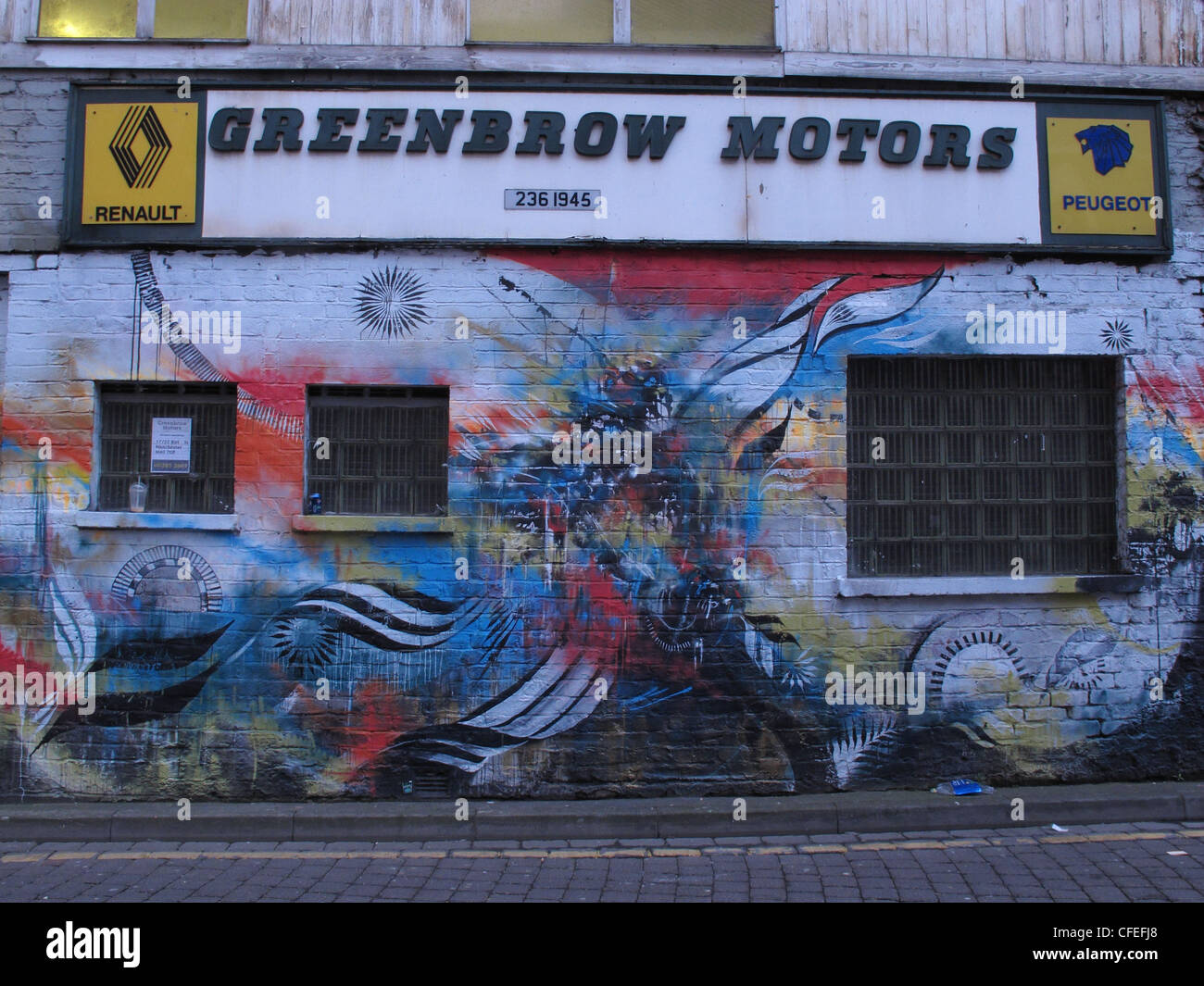 Inner,city,Manchester,graffiti,at,Greenbow,Motors,51,New,Wakefield,St,England,Lancashire,back,street,backstreet,seedy,shady,gotonysmith,near,oxford,rd,road,bars,french,car,repair,repairs,Renault,Peugeot,gostonysmith,Buy Pictures of,Buy Images Of