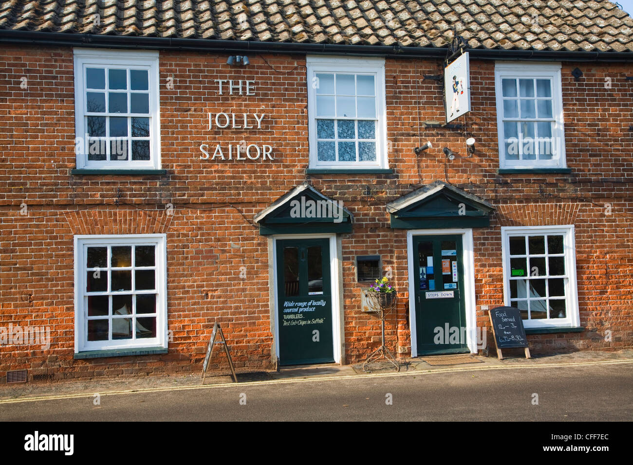 Jolly Sailor pub Orford Suffolk England - Stock Image