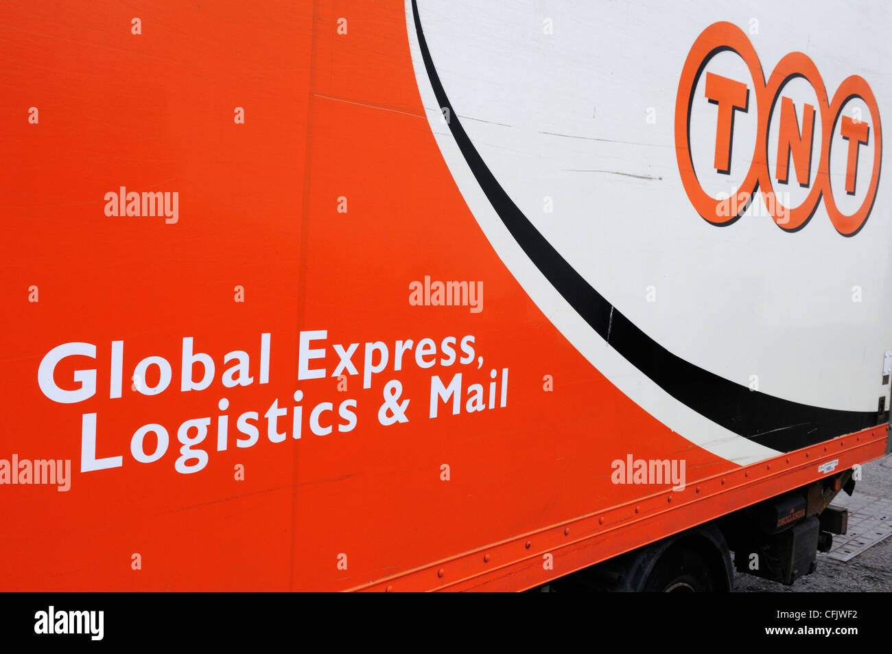 TNT Courier van detail, Cambridge, England, UK - Stock Image