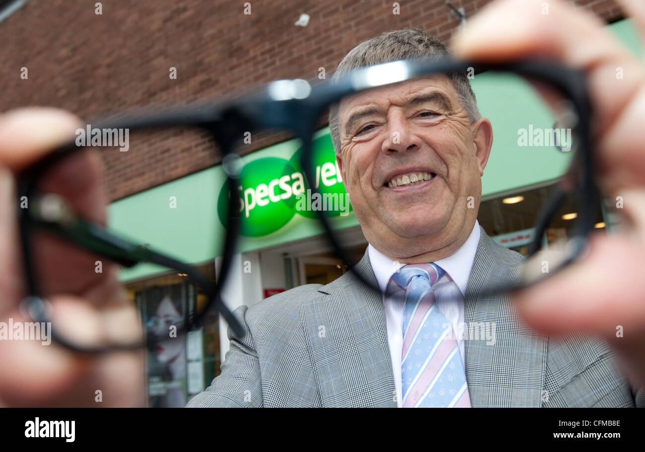 Doug Perkins - Founder and Director of Opticians chain Specsavers. - Stock Image
