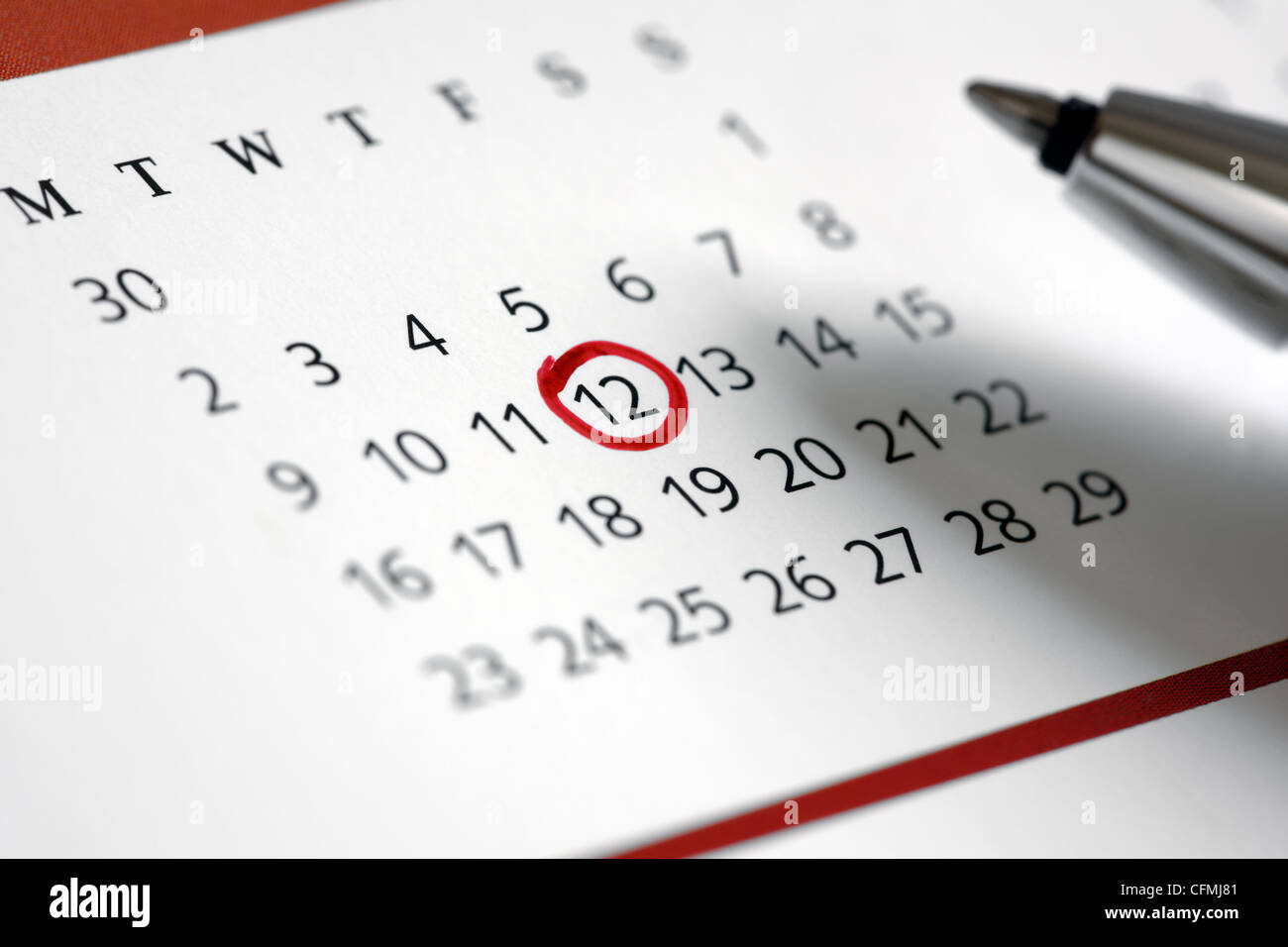 Important date - Stock Image