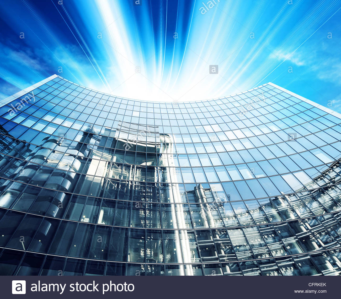 corporate modern office - Stock Image