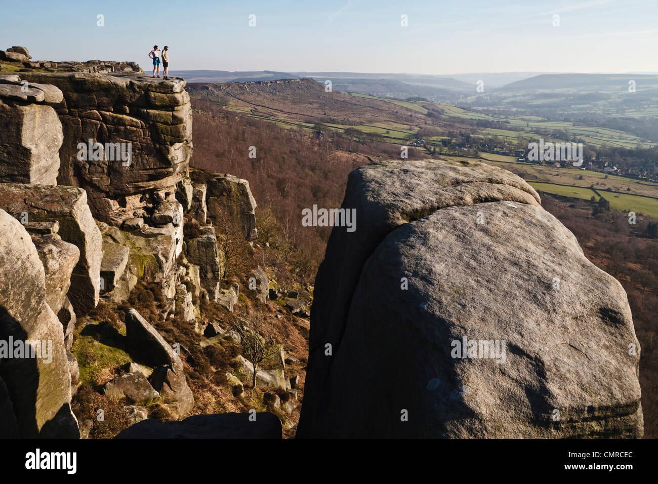 Froggatt Edge, Peak District National Park, Derbyshire, England - Stock Image