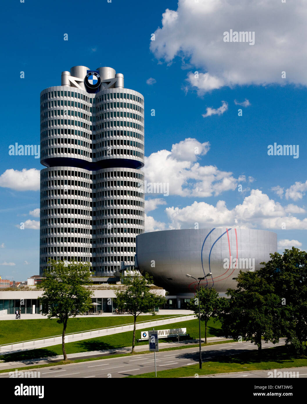 BMW Museum in Olympiapark, Munich, Germany - Stock Image