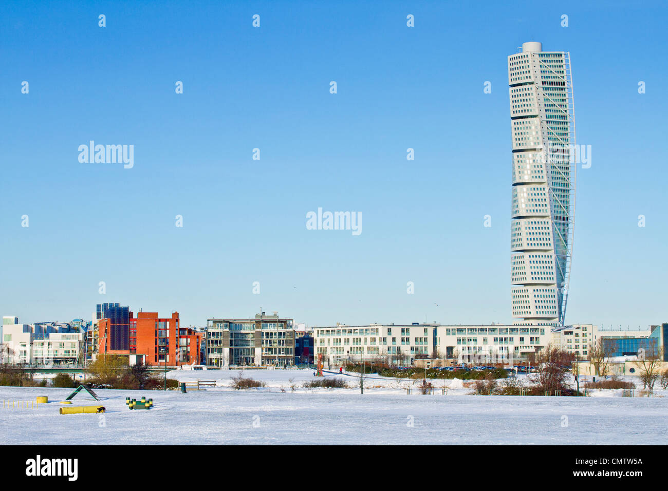 Turning torso apartment building in Malmo - Stock Image