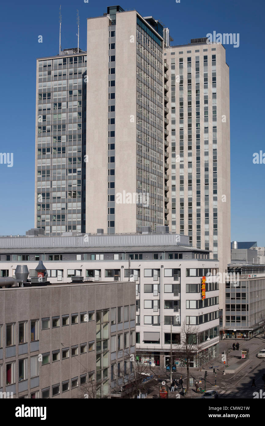 High rise building, Stockholm - Stock Image
