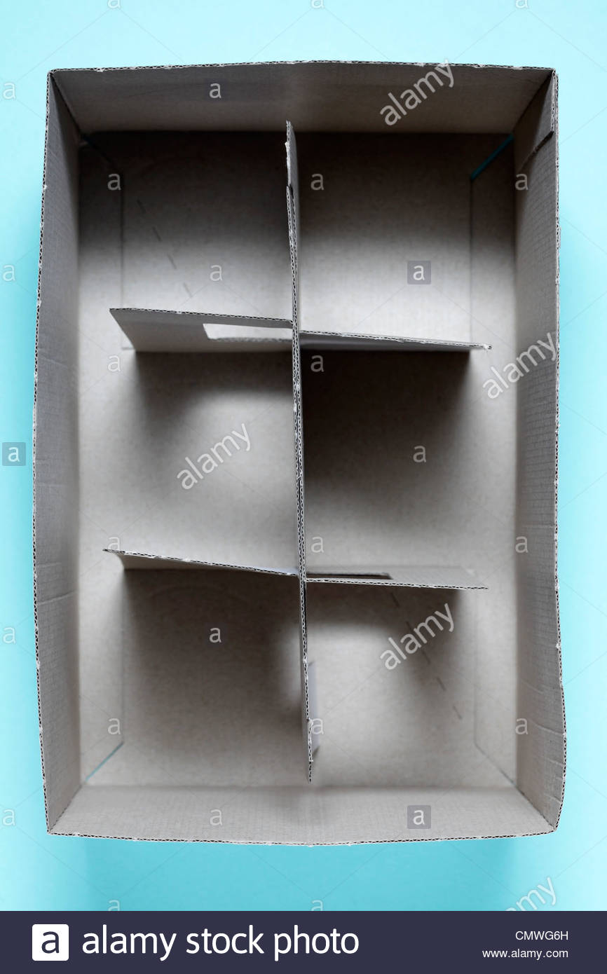 light carton type of glasses transport carry box - Stock Image