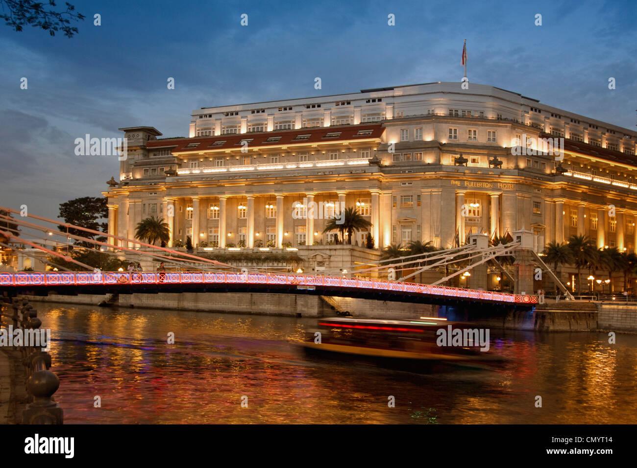 The Fullerton Hotel, Singapur Aisia - Stock Image
