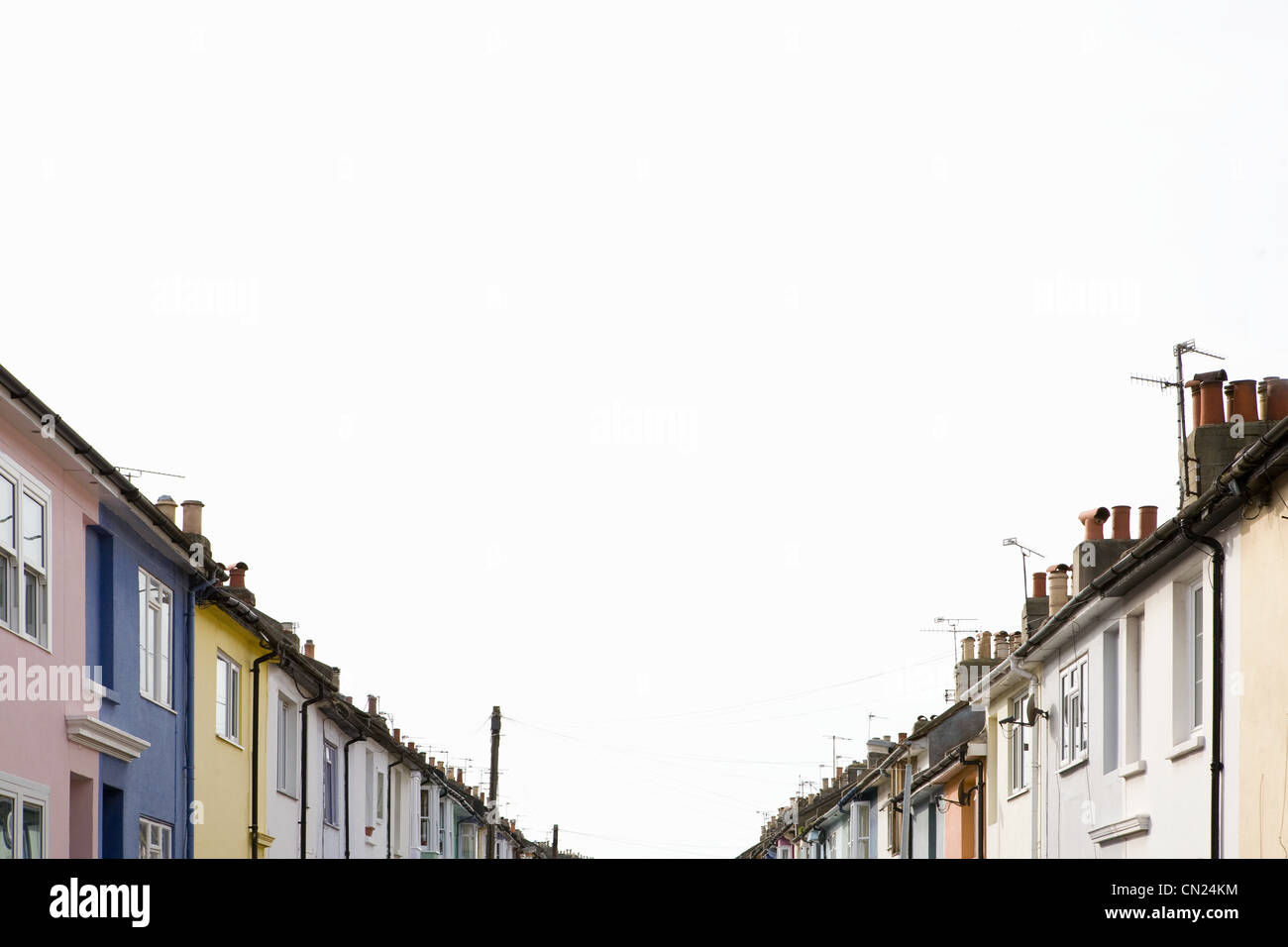 Row of colorful houses - Stock Image