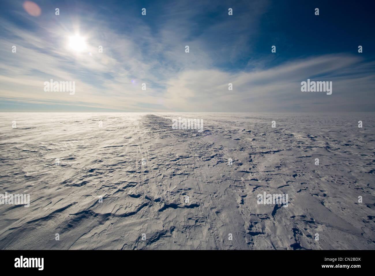 Polar tundra arctic landscape - Ice cap, Greenland - Stock Image