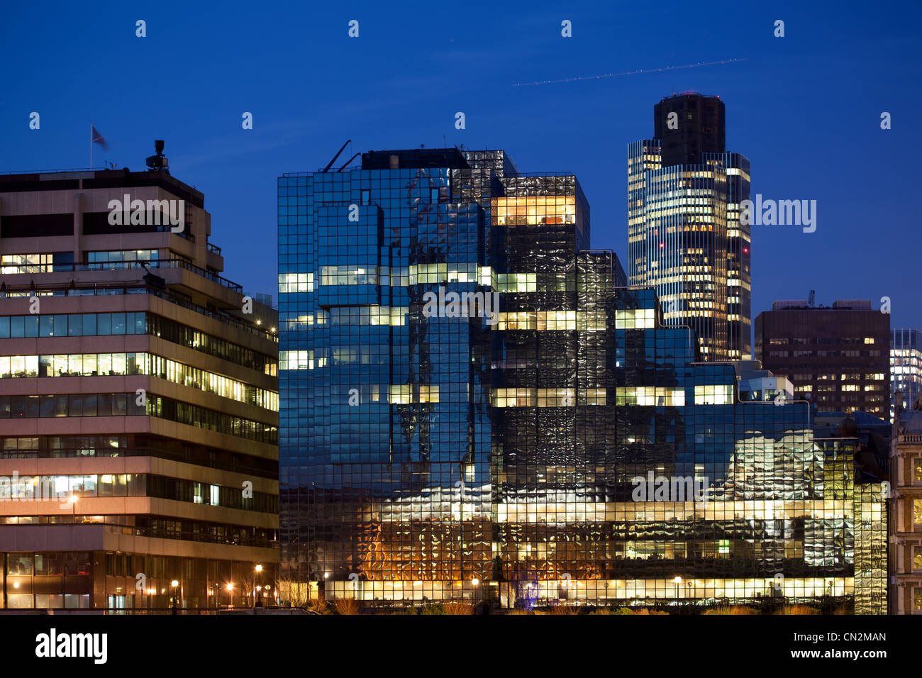 Office buildings in City of London, UK - Stock Image