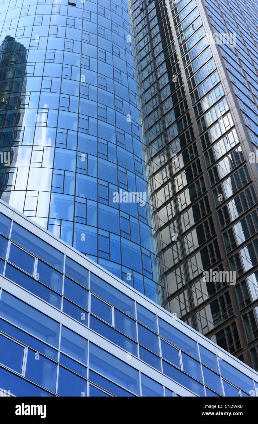 Modern buildings, Frankfurt, Germany - Stock Image