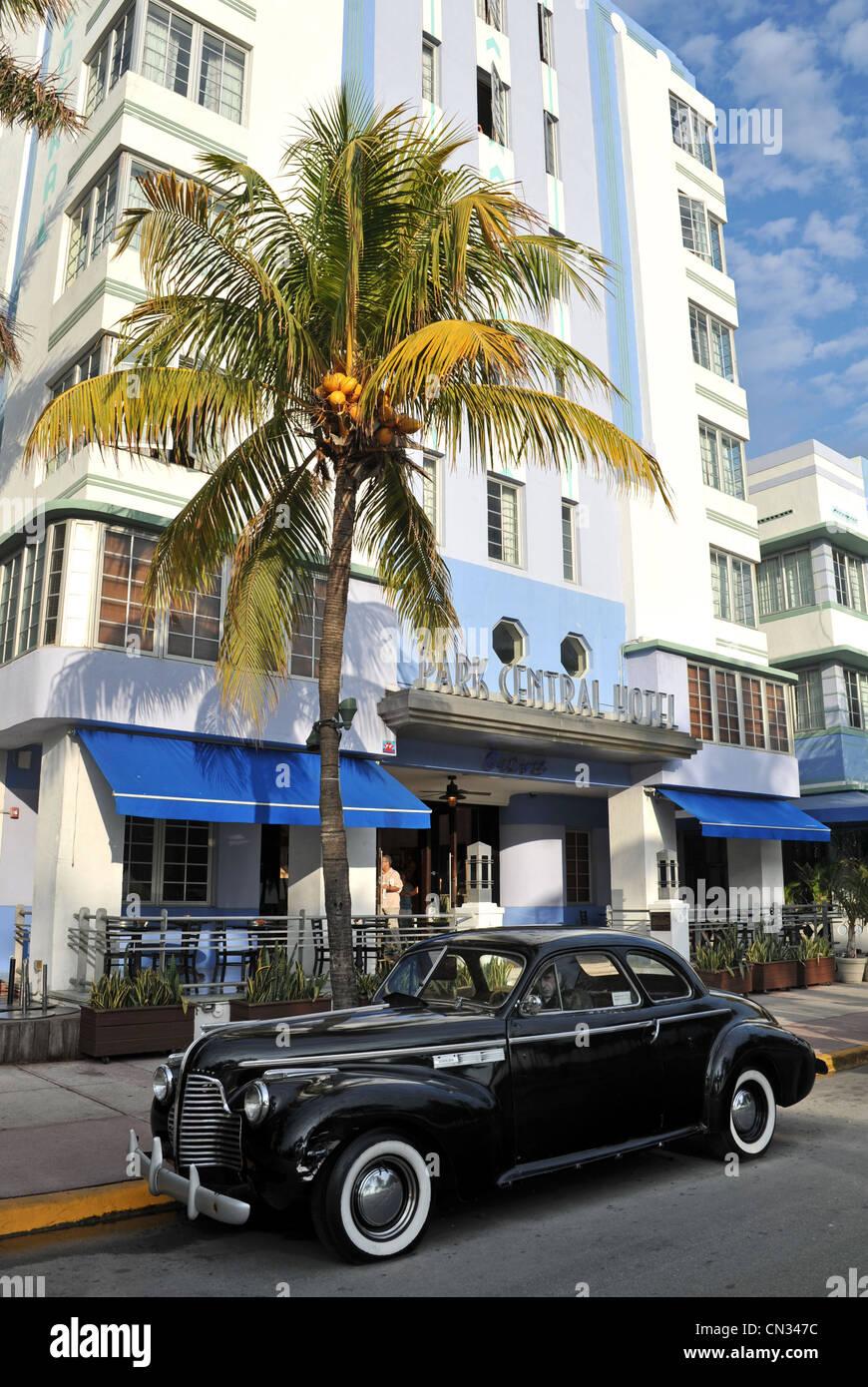 Park Central Hotel, South Beach, Miami, Florida, USA - Stock Image