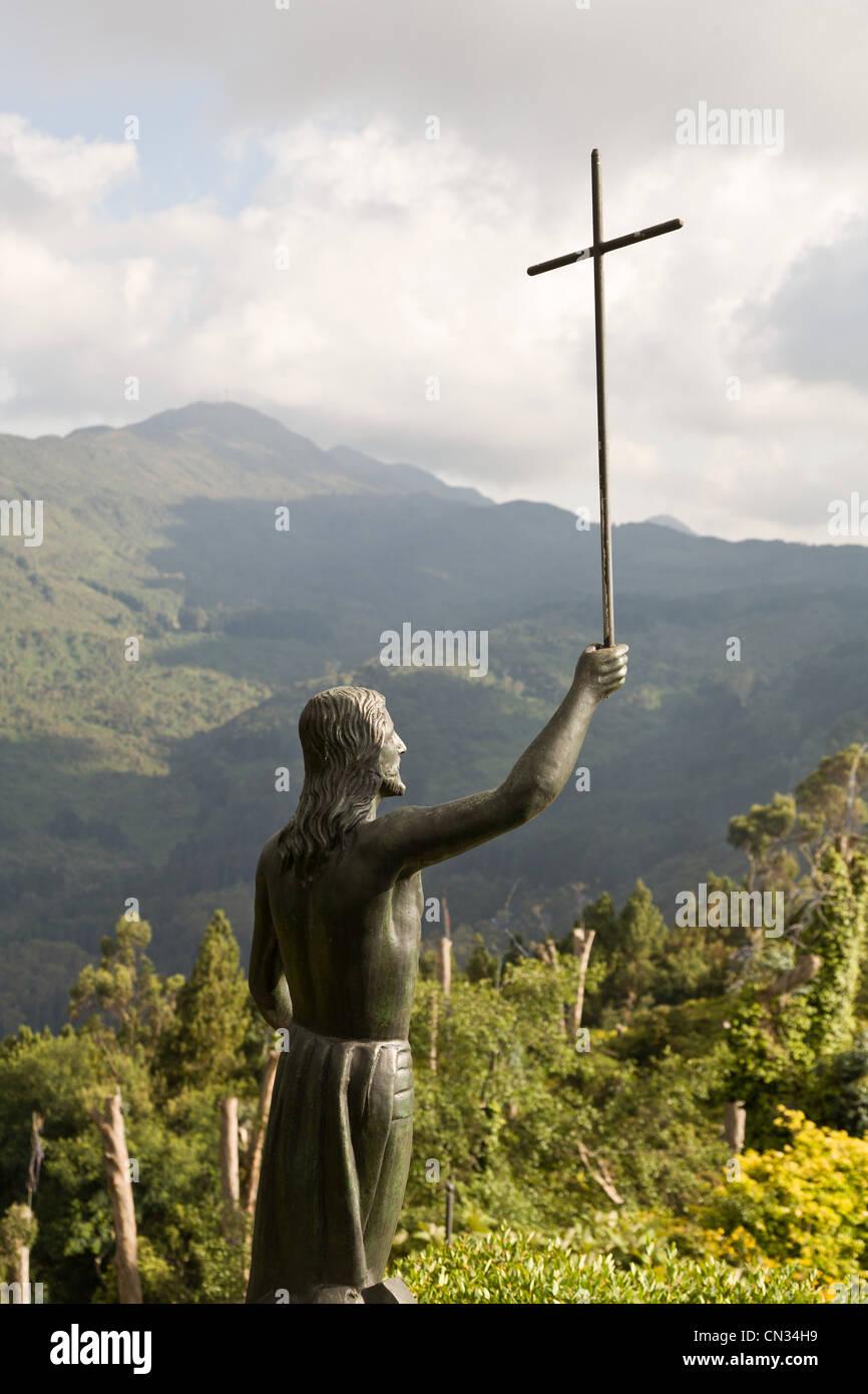 Statue of Jesus, Botoga, Colombia - Stock Image