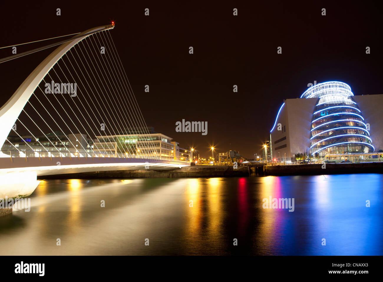 Modern architecture of theater in Dublin - Stock Image
