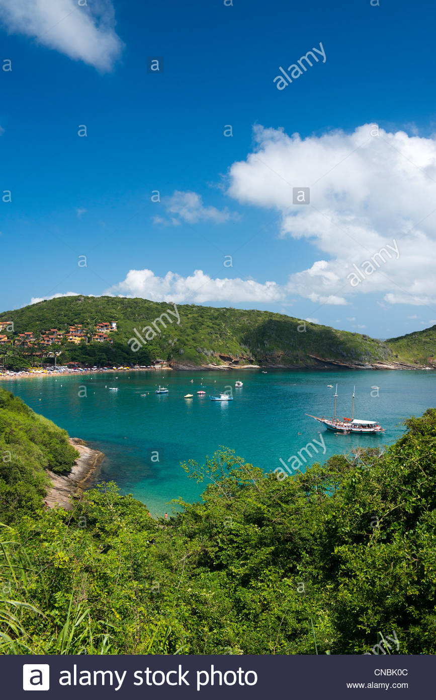 Armação dos Búzios is a resort town and a municipality located in the state of Rio de Janeiro, Brazil - Stock Image