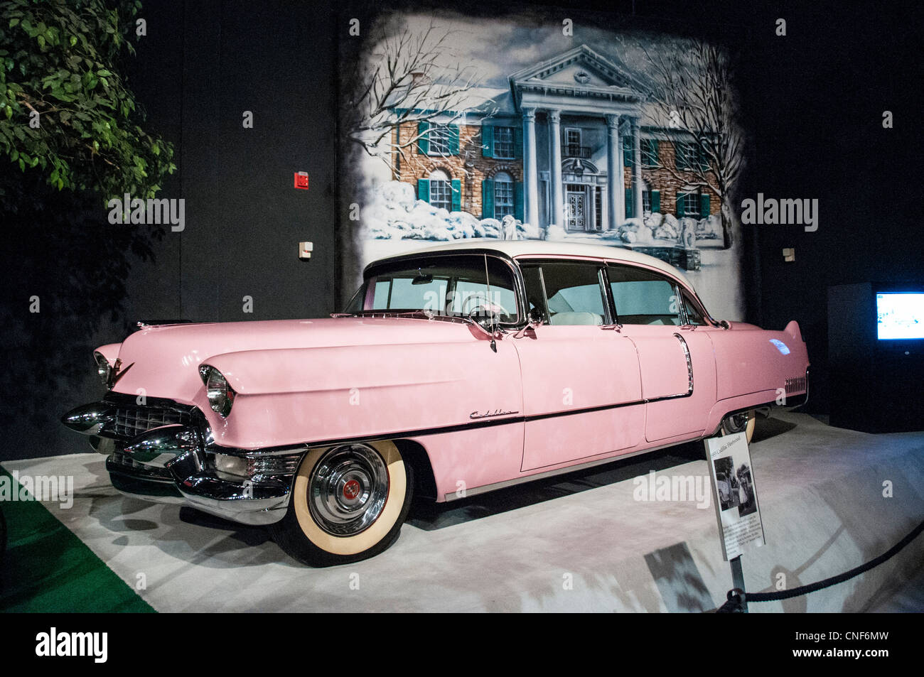 Elvis Presley's home and museum Graceland, car museum with Elvis 1956 Cadillac Eldorado Stock Photo