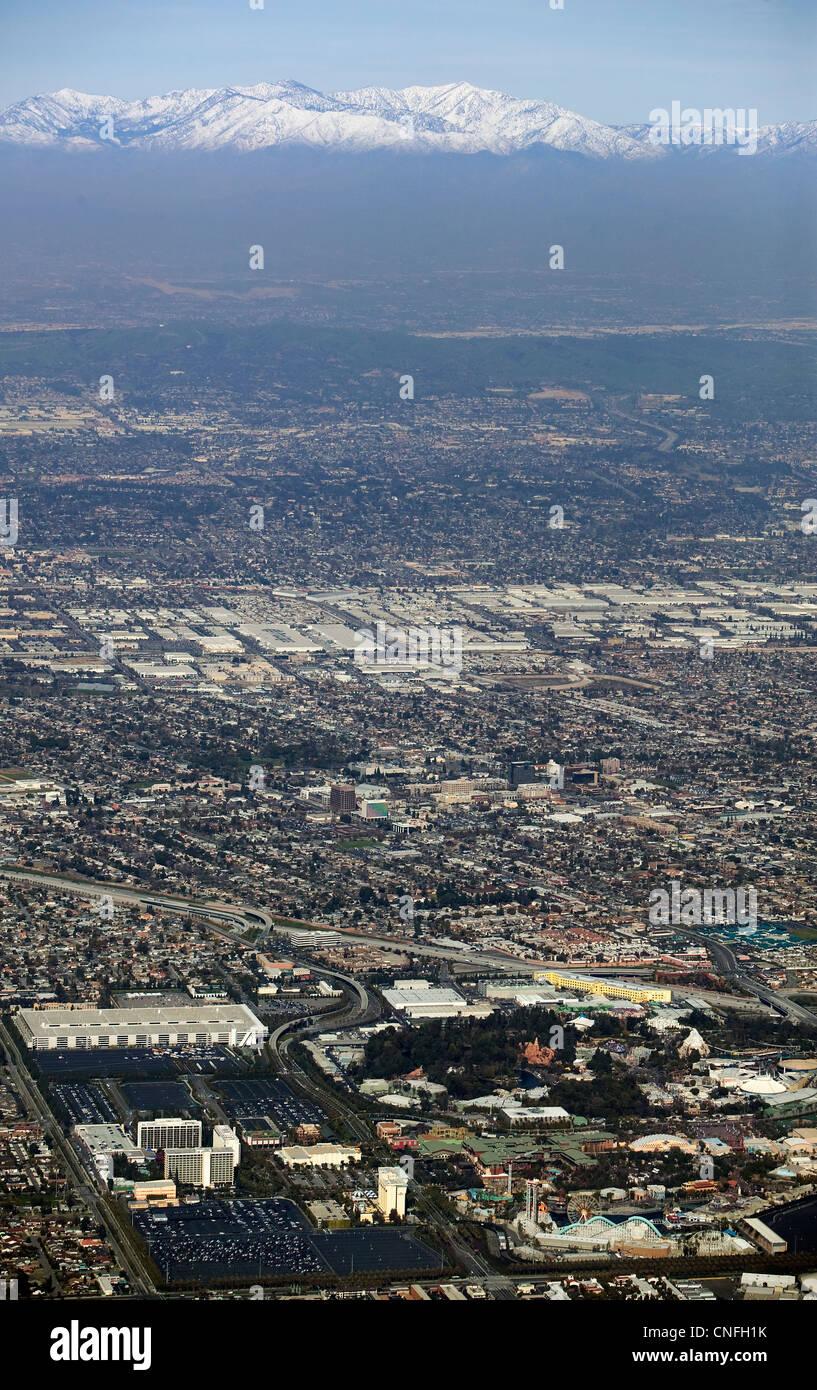 aerial photograph Los Angeles, California - Stock Image