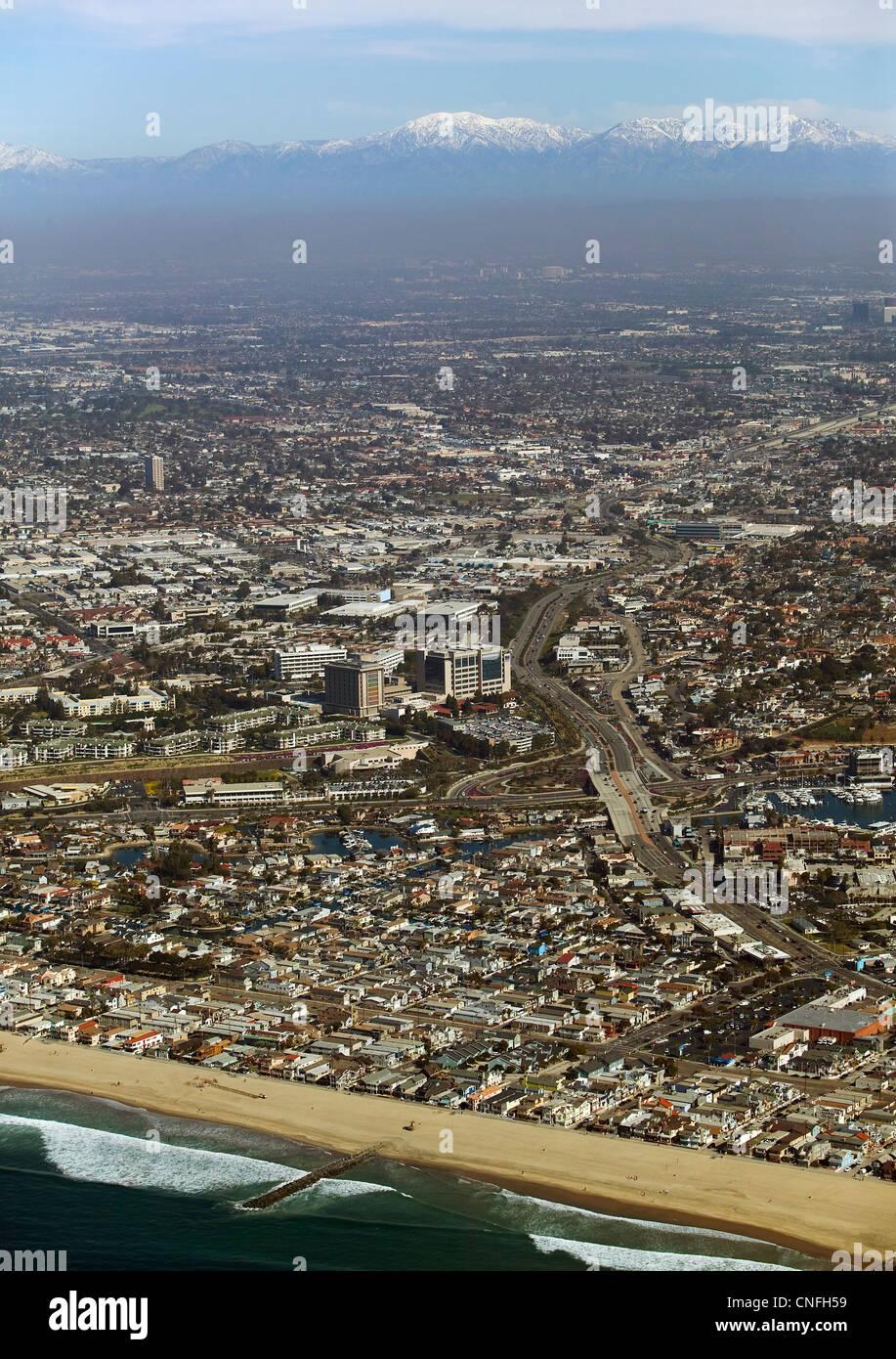 aerial photograph Orange County, California - Stock Image
