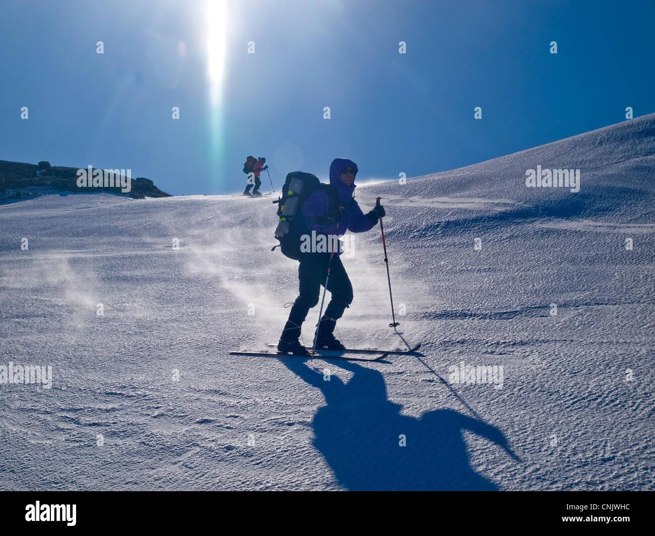 skitouring in the Hardanger region of Norway - Stock Image