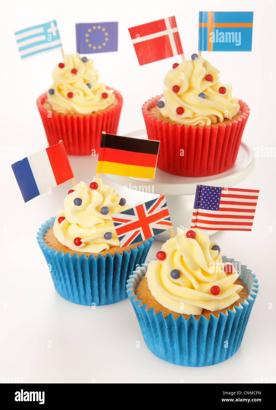 INTERNATIONAL CUPCAKES - Stock Image