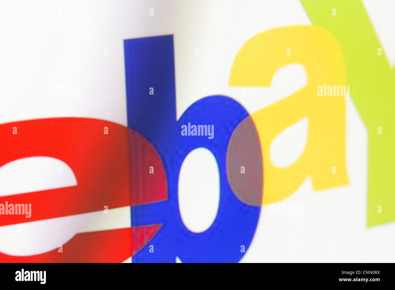 Ebay logo on a monitor screen - Stock Image