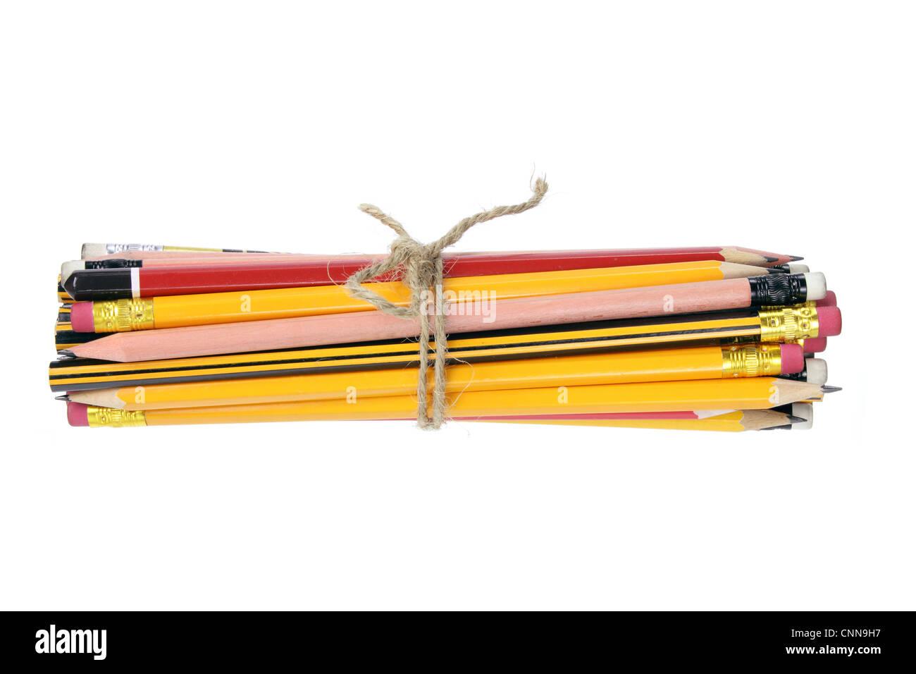 Bundle of Pencils - Stock Image