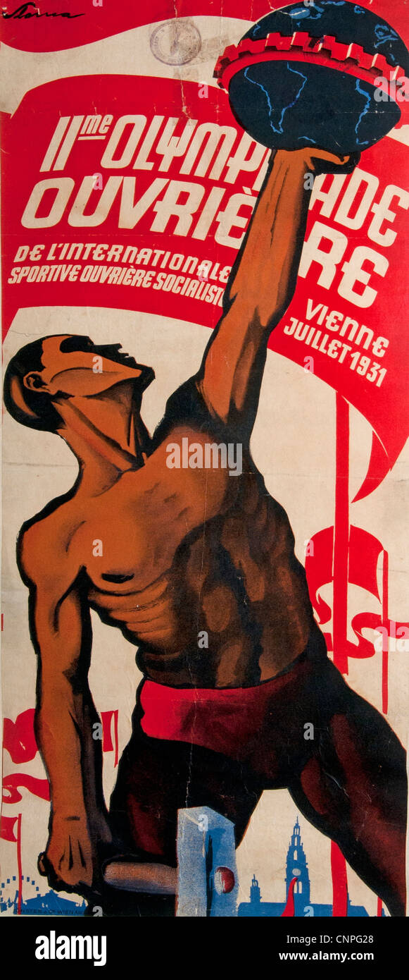 The Olympic games for workers Vienna 1931 Austria -  Antwerp 1937 Belgium - Stock Image