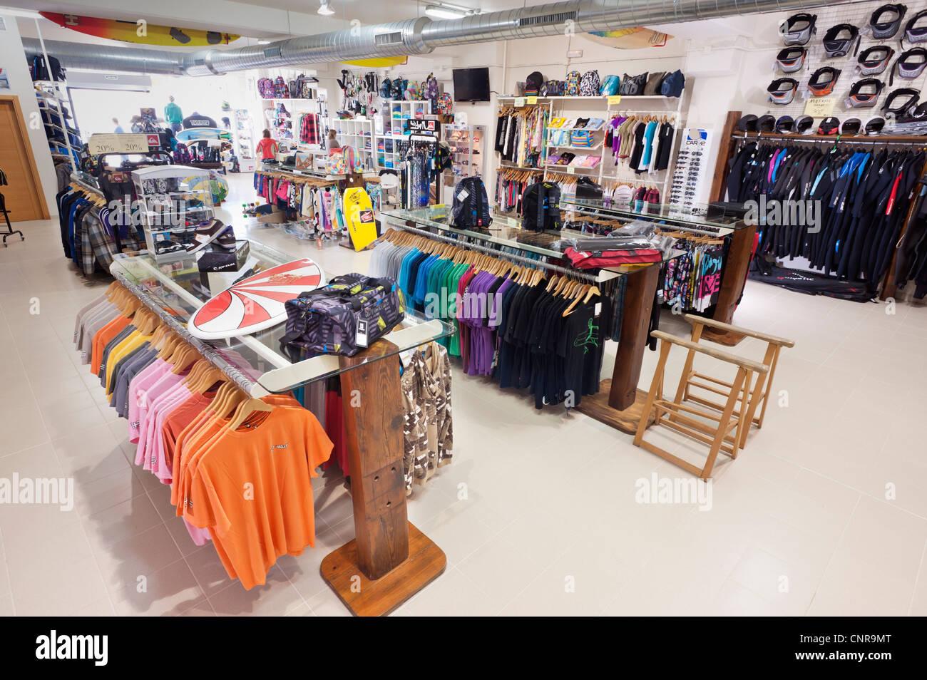 Shop in Tarifa, Cadiz, Andalusia, Spain. - Stock Image