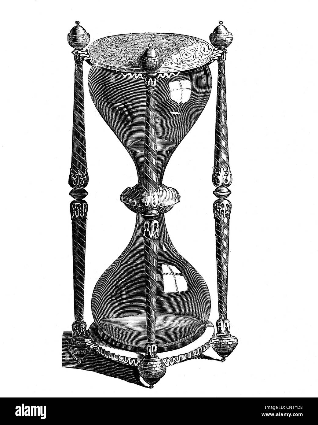 clocks, hour glass, historic, historical, hour glass, hourglass, hour glasses, hourglasses, sand glass, clock, clocks, - Stock Image