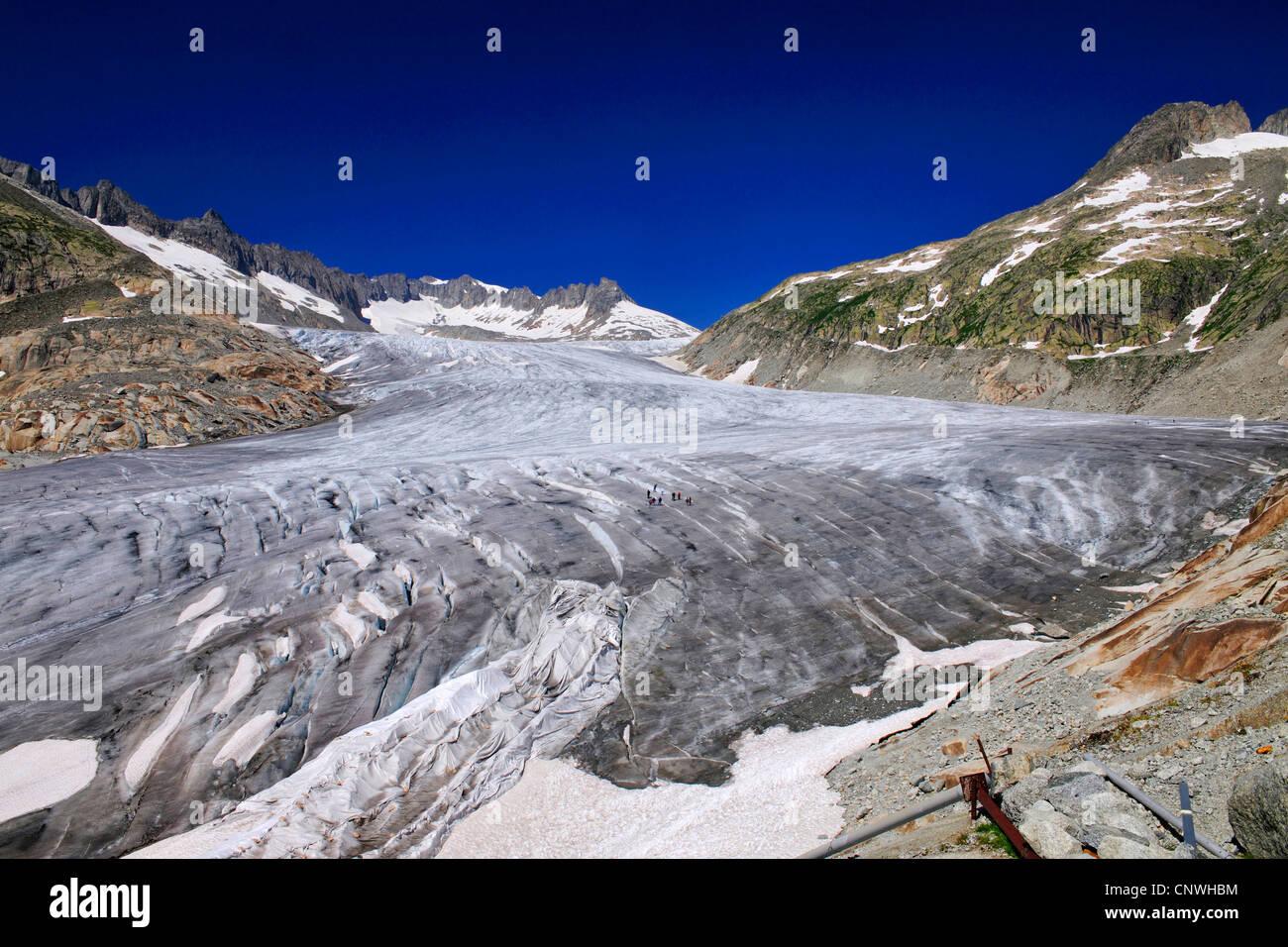 Rhne Glacier, Switzerland, Valais - Stock Image