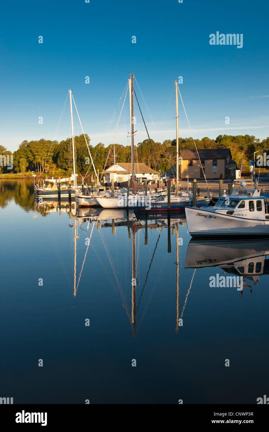 Onancock Virginia on the Eastern Shore of VA Stock Photo